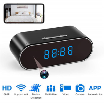 Clock Mini Camera 1080P HD micro camera espia wifi Security Night Vision Motion Detection Secret gizli kamera