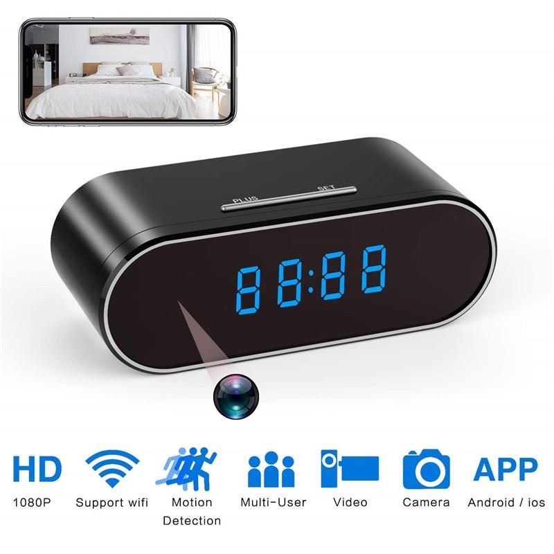Horloge Mini caméra 1080 P HD micro caméra espia wifi caméra sécurité Vision nocturne détection de mouvement wifi caméra secrète gizli kamera