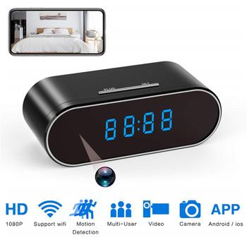 Zegar Mini kamera 1080P HD mikro kamera espia kamera wifi bezpieczeństwo noktowizor wykrywanie ruchu wifi tajna kamera kamera gizli tanie i dobre opinie CMOS 1080P mini camaras espias escondidas 1080 p (full hd) ONEYES Microsd tf