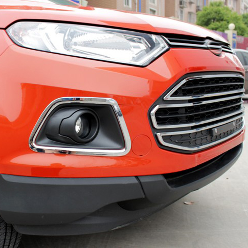 Free Shipping High Quality ABS Chrome Front Fog lamps cover Trim Fog lamp shade Trim For Ford Ecosport ...
