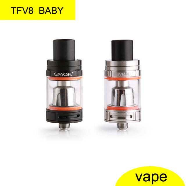 Original smok tfv8 bebê 3 ml cigarro eletrônico tanque atomizador/clearomizer vaporizador/top-preenchimento do fluxo de ar ajustável