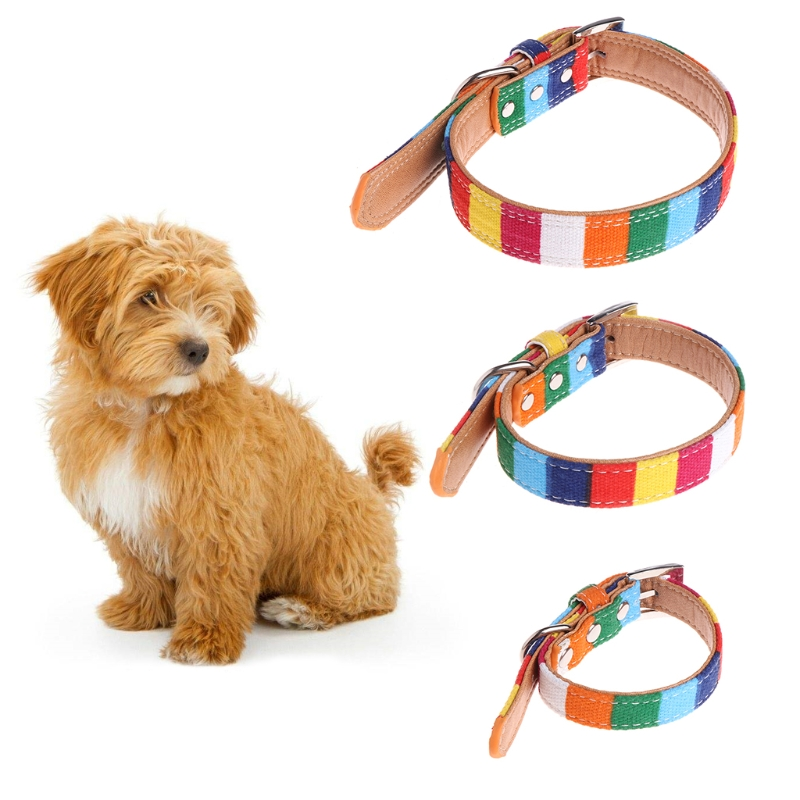 Sweet Faux Leather Collars Pet Dog Puppy Choker Adjustable Flower Buckle Neck Strap