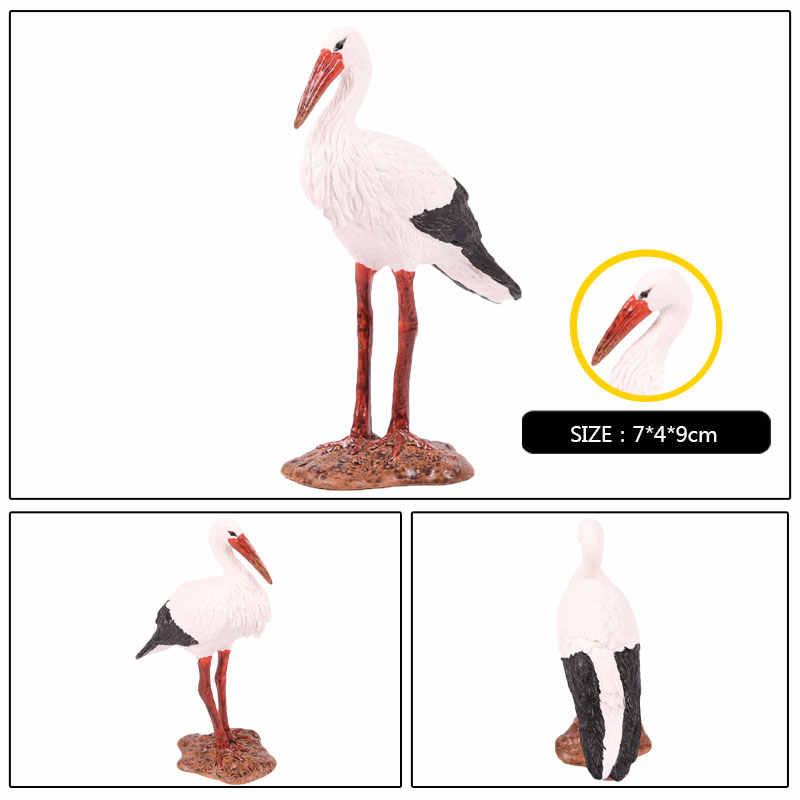 Oenux высокого качества ПВХ кран Птица Фламинго миниатюрные фигурки домашний садик бонсай украшения модель фигурки животных игрушки