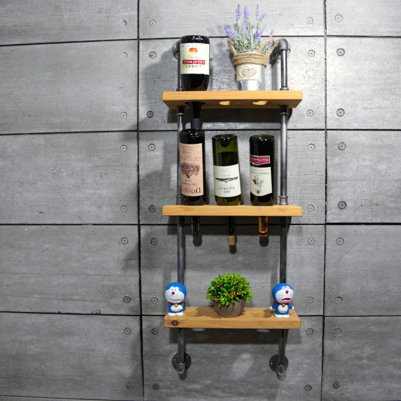 1pc 4515cm new classical wood red wine rack bottle holder wall mounted kitchen bar creative display shelf fjzn1d019a0