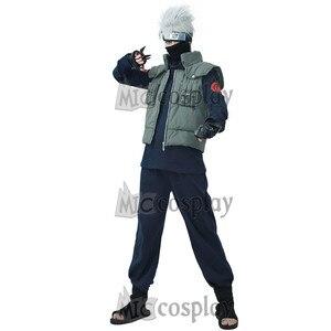 Image 2 - Kakashi Cosplay Costume Naruto Cosplay Hatake Kakashi Ninja Vest Headband Mask and accessories Carnival Outfit