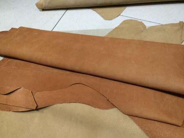 Véritable brun couleur de porc split en cuir pour sac chaussures