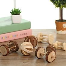 Wood Mini Exercise Chew Teeth Care Molar Toy for Rabbit Chinchilla Hamster Pet
