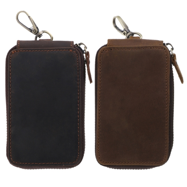 c507437082d4 US $9.11 14% OFF|New Men Women Casual Car Key Holder Keychain Wallet Case  Pouch Purse Bag Organizer Leather Luxury Design Key Bags-in Key Wallets  from ...