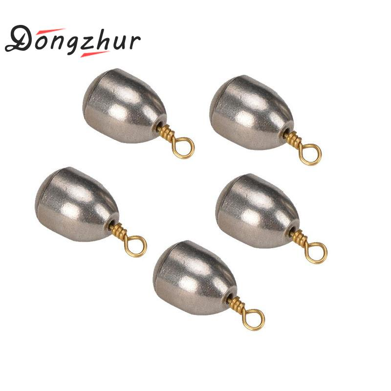 5Pcs Lead Fishing Sinker With Ring Carp Fishing Water Drop Shaped Weights Bass Casting Sinkers Set Fishing Water Drop Weight