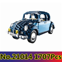 CX 21014 1707Pcs Model building kits Compatible with Lego 10187 With Legoing Volkswagen Beetle Brick figure toy for children