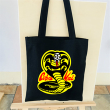 Cobra Kai Bag Canvas Tote 2018 U.S. drama Cobra Kai No mercy Shoulder Bag Female Shopping Man Shoulder High Quality Bag