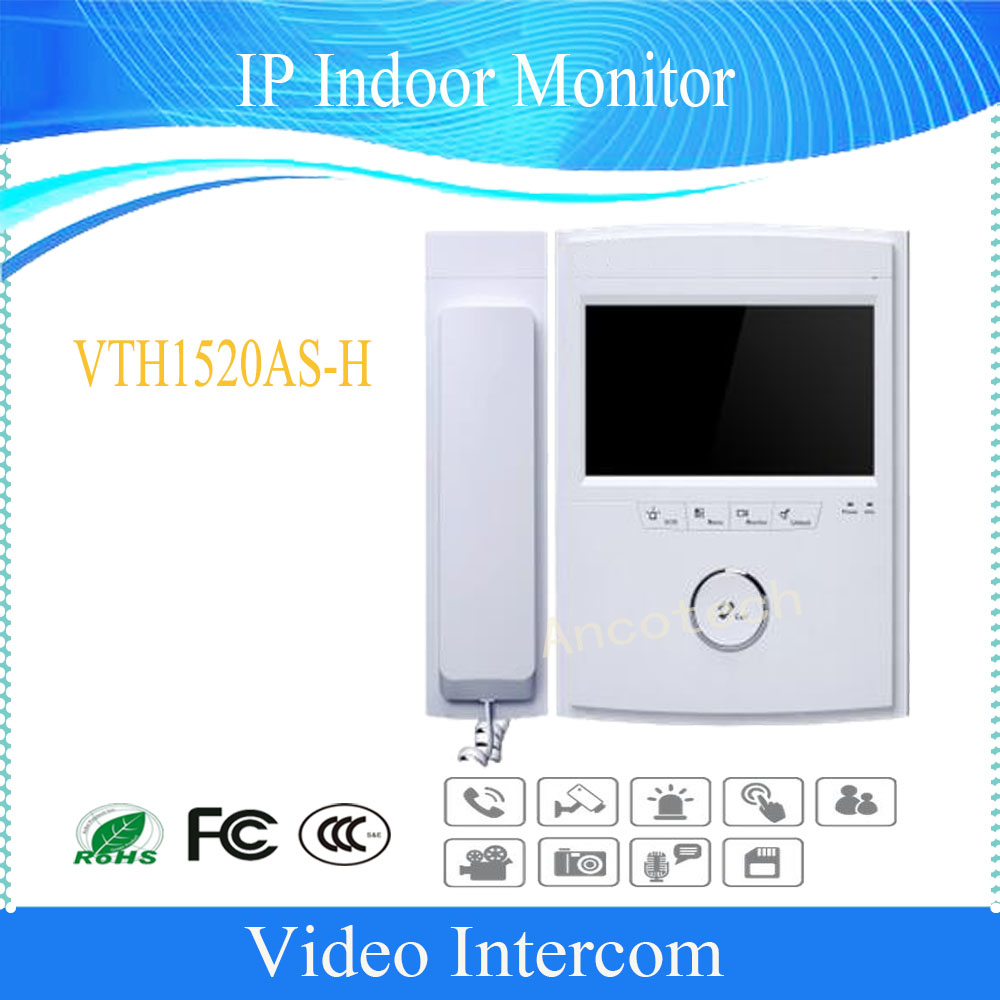 DAHUA Free Shipping Doorbell Camera Doorbell Intercom Color 7-inch Color Indoor Monitor Touch screen Without Logo VTH1520AS-H