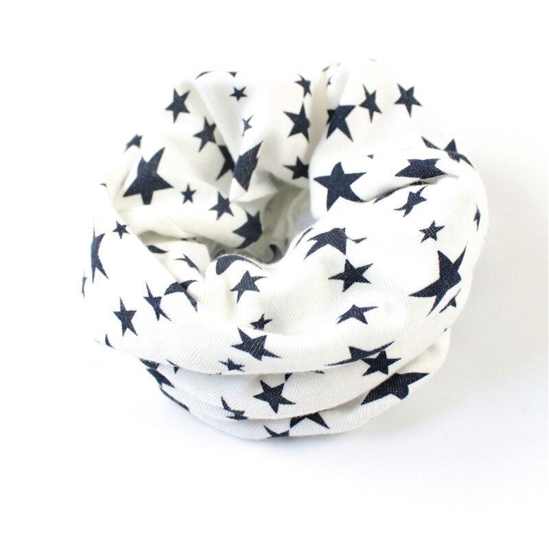 Кольца с принтом звезд, шарфы для подогреватель детей, шарф на осень и зиму для мальчиков и девочек, шейный платок, шапка, маска - Цвет: white