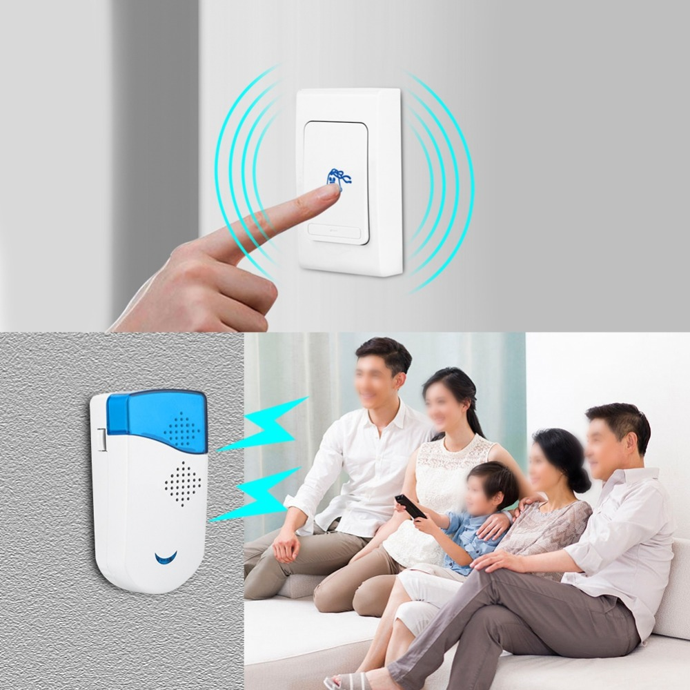 Durable Wireless Doorbell for Home Office Warehouse HotelDurable Wireless Doorbell for Home Office Warehouse Hotel