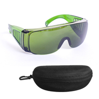 Special laser protective glasses IPL CE 200nm 2000nm laser protection goggles Dark Green colour with Eyeglass box free shipping