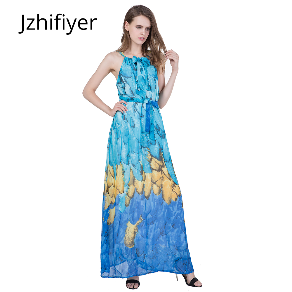 dress mujer holiday maxi dress spaghetti strap onepiece sarong backless summer feather loose tank chiffon dress for lady xl-4xl