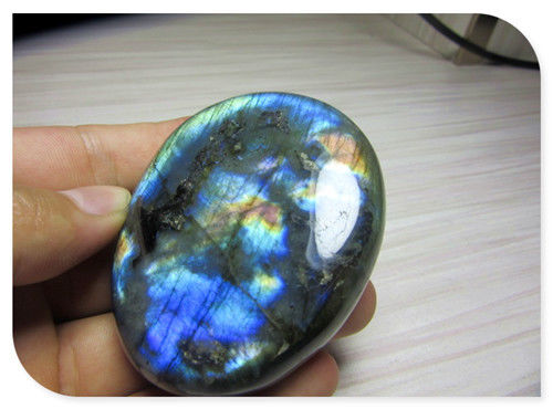 Free Shipping  Natural Labradorite Crystal Rough Polished Rock From Madagascar G012