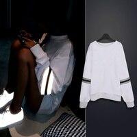2015 outono / inverno mulheres Reflective removível zipper mangas fleeve hoodies casual camisola de diferentes mulheres hoody sudaderas
