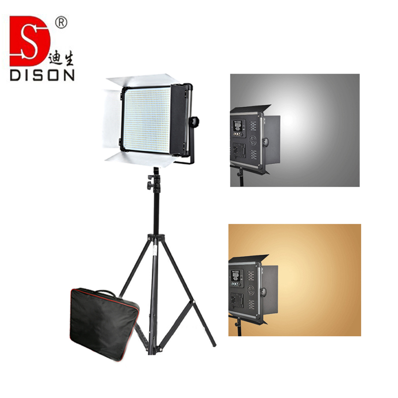 Yidoblo Pro LED Lamp Kit D-2000 Lumen video light Studio bio-color Photography continue lighting + handbag +tripod set