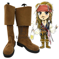 Piratas del Caribe Jack Sparrow Zapatos Botas de Cosplay Del Partido de Halloween Fancy Custom Made