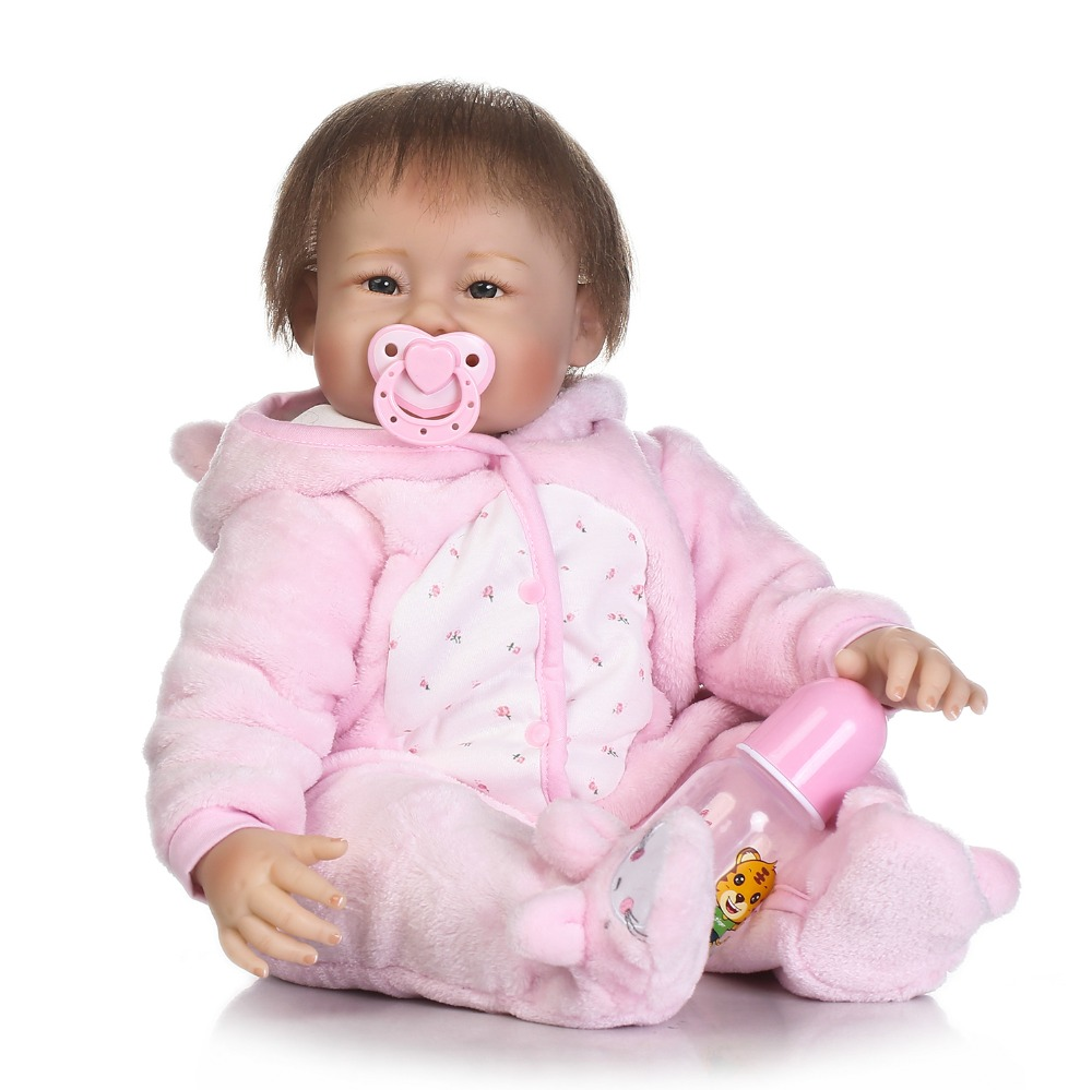 55cm Soft Silicone Reborn Baby Doll Toys Like Real 22inch Princess Toddler Dolls For Girls Birthday Gift Play House Toy new fashion design reborn toddler doll rooted hair soft silicone vinyl real gentle touch 28inches fashion gift for birthday