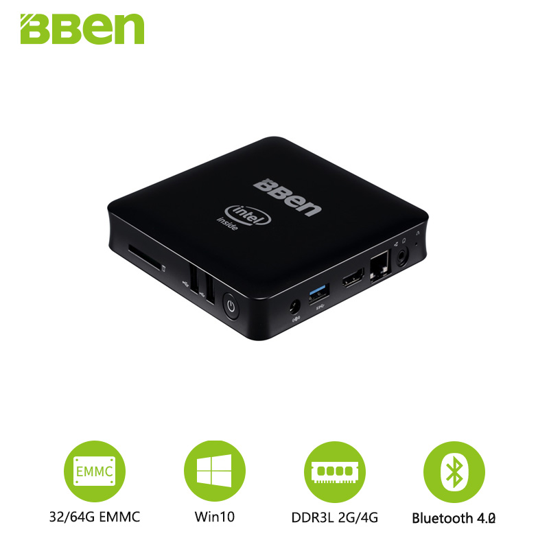 Bben Mini Computer Mn11 Z3850 Quad Core Mini PC Windows10 Lan TV box USB3.0+2.0 WIFI desktop computer box 2GB/32GB bben mn11 mini computer box with intel z8350 cpu 4gb 64gb emmc or 2gb 32gb lan hdmi wifi windows10 mini pc