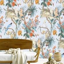 Европейские цветы и птицы фон обои фрески украшение дома на