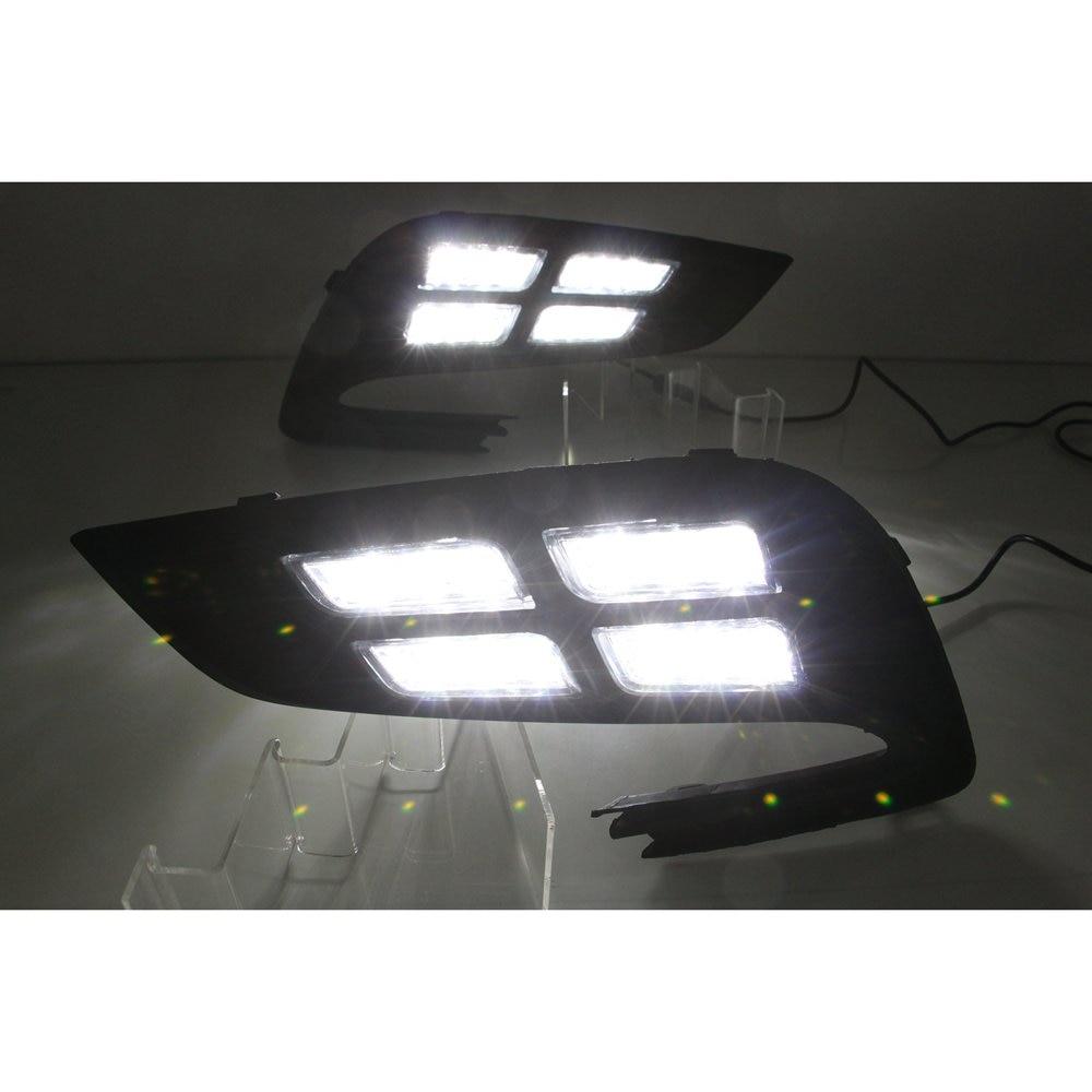 2x LED Driving Daytime Running Day Fog Lamp Light For OPEL MOKKA X 2017 2018
