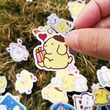 20/40pcs Cute Plush Toy Bunny Sticker Cartoon Movie DIY Diary School Stationery Childrens Room Decoration
