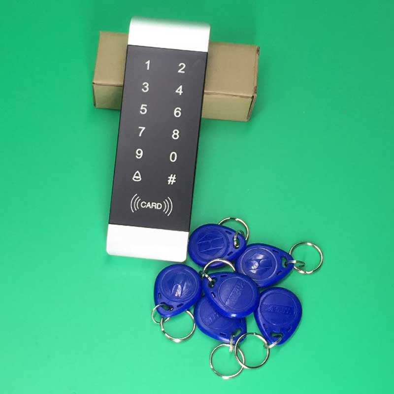 New RFID Proximity Entry Door Lock Access Control Door Opener Touch Keypad Access Controller Narrow Frame Door ip68 proximity rfid 125khz 13 56mhz id ic keypad metal door access control standalone entry door lock keypad