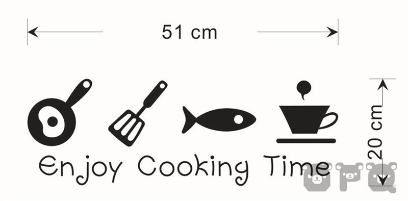 Cartoon Kitchen Cabinet Decals Cooking Dining Room Decorative Wall Stickers Home Liances Kor Sticker In From