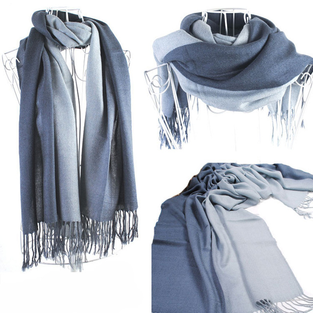 Gradient color cashmere scarf | Shawls and Wraps | Upto 60% Off Now