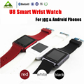 DHL Freeshipping 10 Pcs/Lot Bluetooth Smart Wrist Watch U8 Smartwatch For IPhone IOS Android Phones Good as GT 08 DZ 09 For Sony