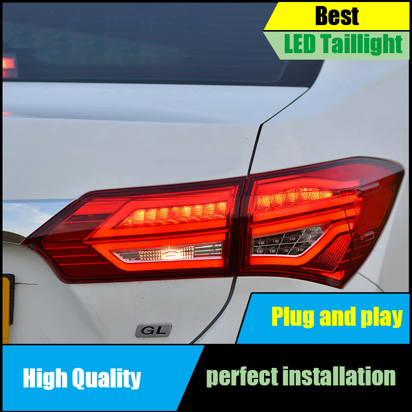 Car Styling Tail Lamps for Toyota Corolla Altis Tail Lights 2014 2015 2016 LED Taillight Rear Lamp Driving+Brake+Park+Signal led strip headlights front lamps fit for toyota corolla altis 2014 2015 2016 head lamps with turn signal lamps