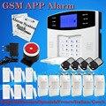 Promociones grandes! inglés Ruso Español Francés Italiano de Voz sistema de Alarma Inalámbrica GSM seguridad Para El Hogar sistemas de Alarma LCD Del Teclado