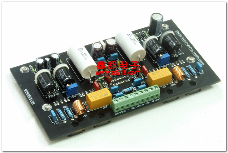 XD Class A/B amplifier LM4702 100W+100W And protection circuit 2.0 amplifier hifi power amplifier board Free shipping