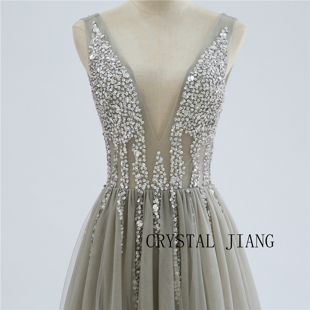 Crystal Jiang 2019 New Arrival Sweetheart A Line Sequin Short Dress Custom Made Knee Length Silver Formal Cocktail Party Gown Cocktail Dresses