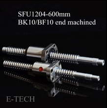SFU1204 Швп Набор: 1 шт. швп SFU1204 L600mm Конец Механической Обработке для BK10 BF10 + 1 шт. SFU1204 Мяч гайка