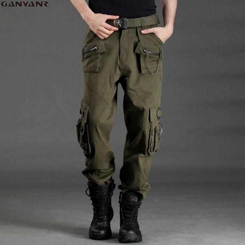 GANYANR Brand Softshell Camping Hiking Climbing Sports Fishing Outdoor Pants Mountain Swat Tactical Long Trousers Full Length
