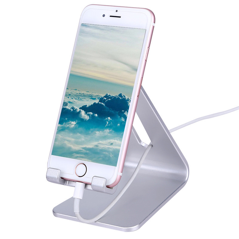 Universal Cell Phone Desk Stand Holder For Iphone 6s Plus Samsung Charger Dock Station Smartphone Tablet Aluminium In Mobile Holders