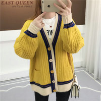 Jacket women winter knitted kawaii Korean style coats woman winter 2018 female bomber jacket women streetwear 2018 KK2081 Y