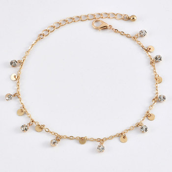 3 Pcs/Set New Fashion Gold Crystal Sequins Star Beads Anklets for Women Bracelet on The Leg Foot Beach Jewelry Accessories 3