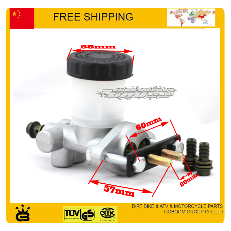 Go Kart Buggy quad hydraulic Brake Master Cylinder PumpBMS KANDI ROKETA 125cc 150cc to 250cc 300cc accessories free shipping 125cc cbt125 carburetor motorcycle pd26jb cb125t cb250 twin cylinder accessories free shipping