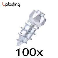 Liplasting 100pcs 6mmx15mm Screw Tire Stud Anti Slip Wheel Tire Snow Chain Anti Skid Ice Stud
