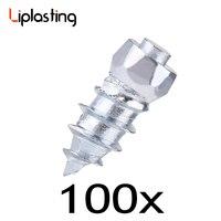 Liplasting 100pcs 6mmx15mm Screw Tire Stud Anti Slip Wheel Tire Snow Chain Anti Skid Ice Stud