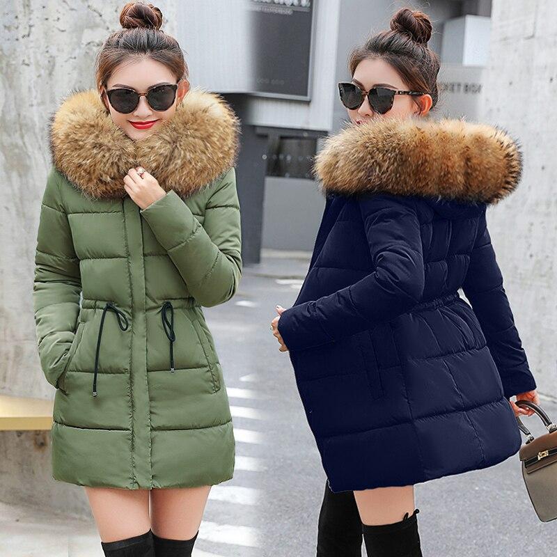 € 18.63 31% de réduction|Faux De Fourrure Parkas Femmes doudoune Nouveau 2019 veste d'hiver femmes Épaisse Usure De Neige manteau d'hiver vêtements de