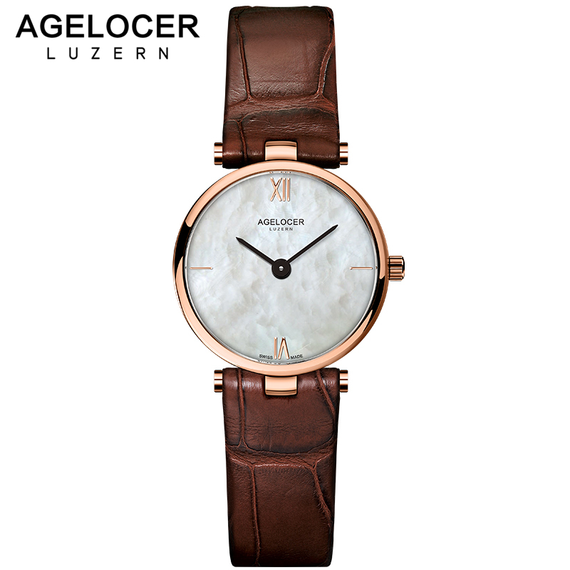AGELOCER New Creative Design Watch Mineral Stylish Quartz Women Watch Casual Fashion Ladies Gift Wrist Watch Vintage Timepieces daybird 3803 fashion pu leather band women s quartz analog wrist watch red silver 1 x lr626