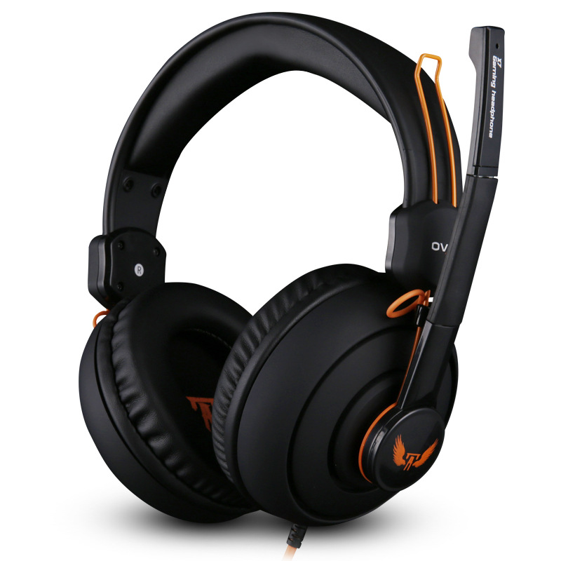 OVANN X7 Wired Gaming Headset With HD Noise Cancelling Microphone, 3.5mm Aduio Headphone for E-Sports With Remote Control sy850mv new gaming headsets with lights portable office wired noise cancelling headbands with microphones for computers pc