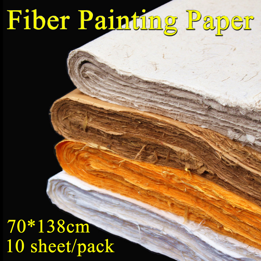 70*138cm chinese painting rice paper Fiber Yunlong Artist Painting Calligraphy Xuan paper Handmade Packing paper archaistic chinese rice paper cardboard for gongbi painting calligraphy blinding notebook painting canvas paperboard