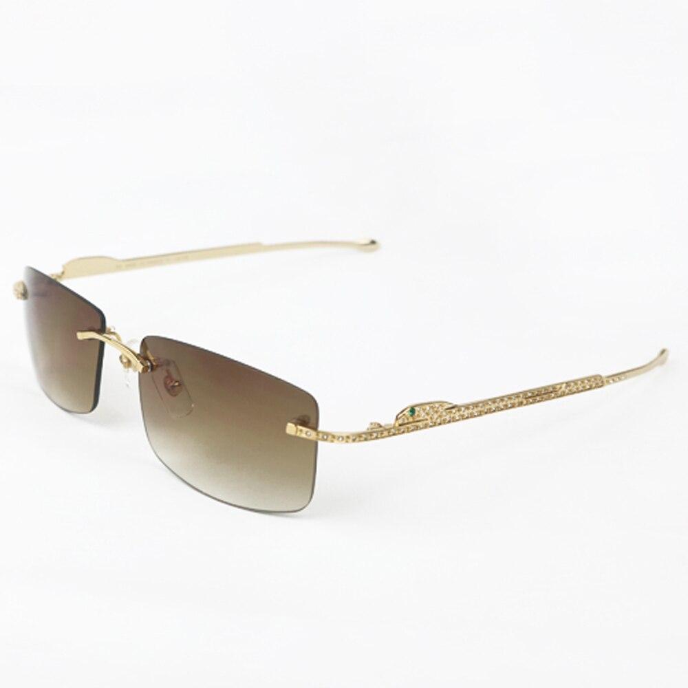 Panther lunettes cadre Carter lunettes de soleil pour femmes et hommes sans monture lunettes pour lire luxe décoration Gafas 0146 - 6